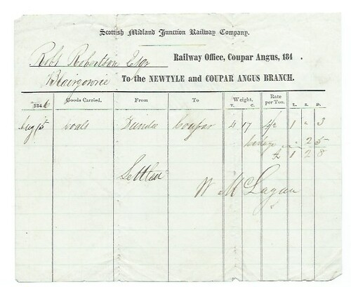Scottish Midland Junction Railway waybill 1846 | by ian.dinmore