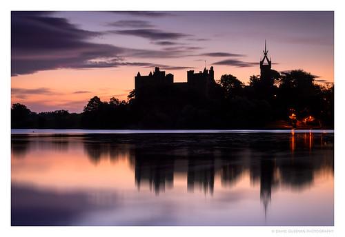 sunrise reflections dawn scotland palace loch linlithgow westlothian