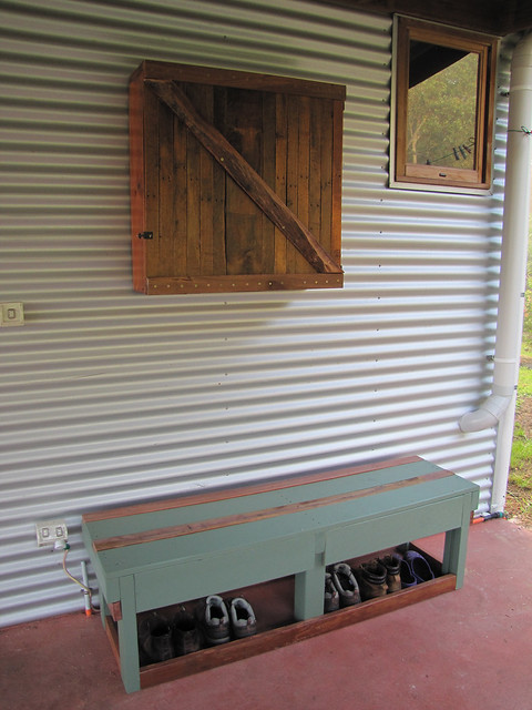 Outdoor Furnishings Made From Salvaged Materials  – Strawbale House Build in Redmond Western Australia
