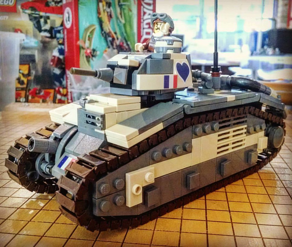 Char B1 bis ready for battle!    or surrender  #brickmania