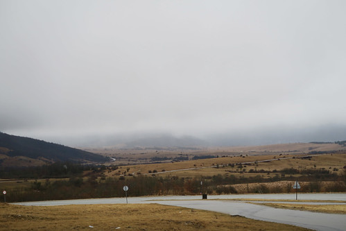 Udbina steppes with rain clouds 2   by najuste