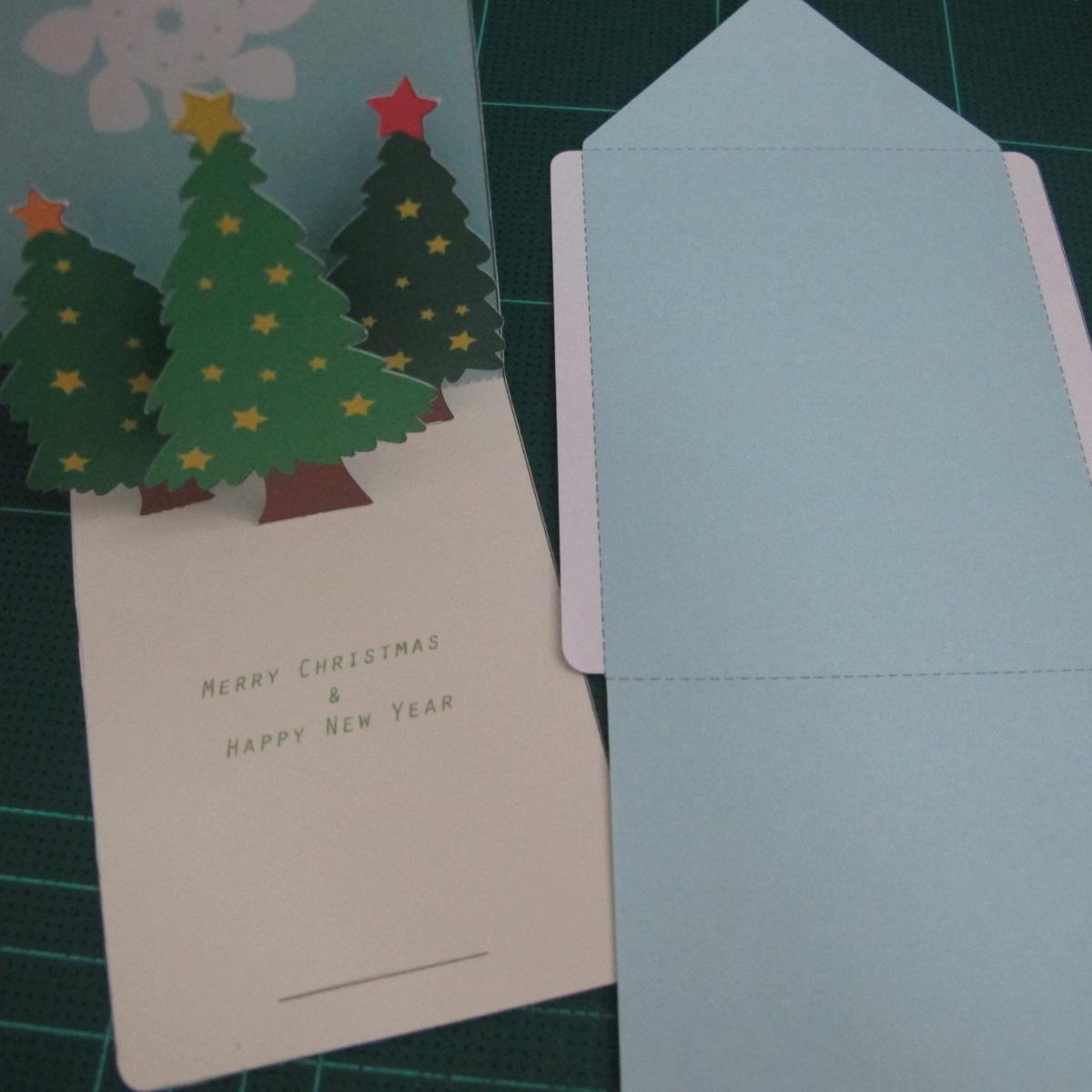 การทำการ์ดอวยพรลายต้นคริสต์มาสแบบป็อปอัป (Card Making Christmas Trees Pop-Up Card Template) 014