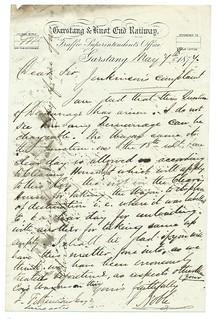Garstang & Knot End Railway letterhead 1877   by ian.dinmore