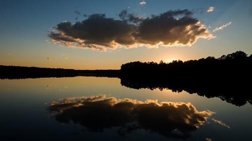 sunset cheraw cherawstatepark lakejuniper nikond800 1635f4