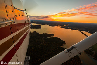 Sunset from a Cessna 172G