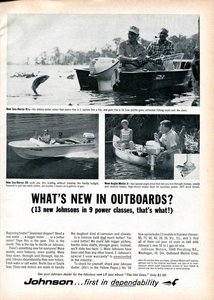 1964 Johnson Outboard Motor Advertisement Sports Afield Ap…   Flickr