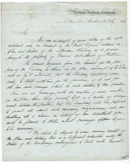 Aberdeen Railway letterhead 1846 | by ian.dinmore