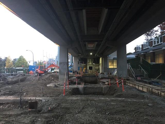 Main Street SkyTrain Station construction