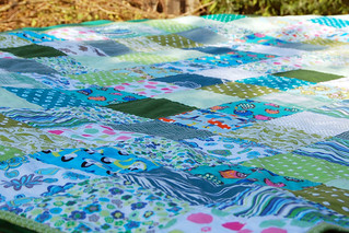 LB patchwork blanket - finished | by Studio Paars