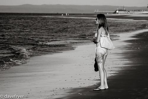 world ocean street travel bw white black art beach girl tattoo dave ink photography bay coast photo nice nikon flickr pretty view candid leg award australia tourist bikini v3 queensland hervey fraser nikkor torquay backpacker v1 v2 fryer 30110mm davefryer