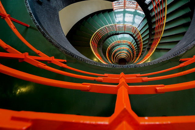 Orange stairs