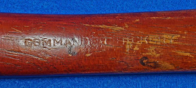 RD15554 Vintage 19 inch Camp Axe or Hatchet with Wood Handle Marked Commander Hickory DSC09415
