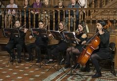 Interpretación musical a cargo de la Filarmónica Cervantina de las 25 Villas