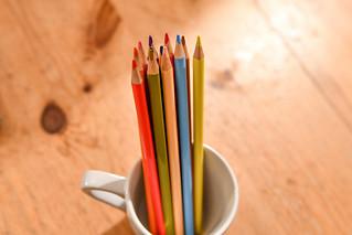 Multicolored Pencils in Coffee Cup   by Jonatan Svensson Glad (Josve05a)