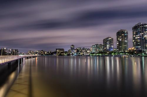 city nightphotography travel reflection fun reisen nikon cityscape australia brisbane brisbaneriver storybridge longexposurephotography nikond800
