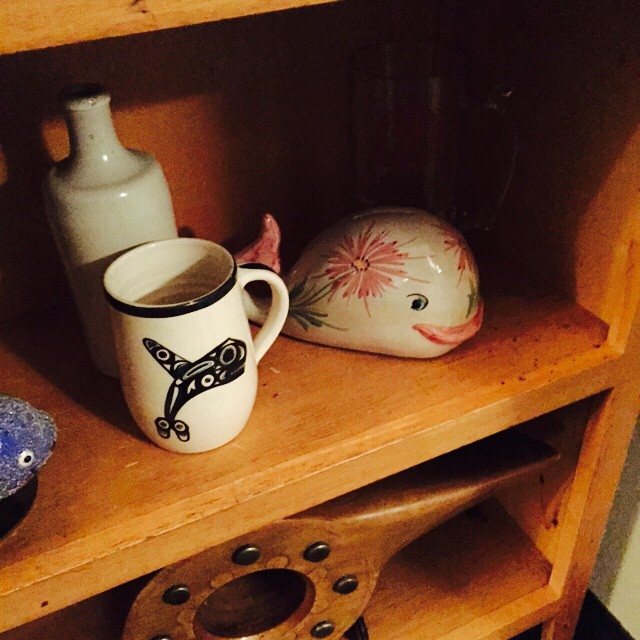 Whale cup and piggy bank
