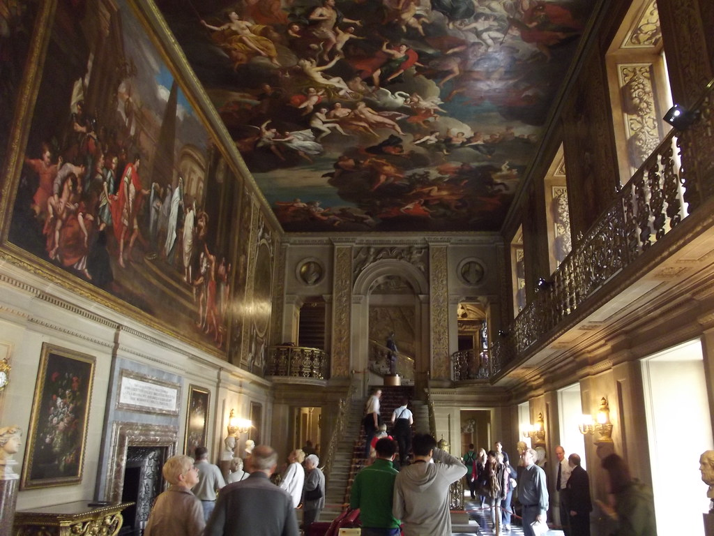 Inside Chatsworth House Painted Hall Murals At
