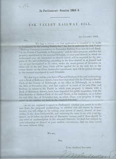 Esk Valley Railway Notice to Treat 1864 | by ian.dinmore