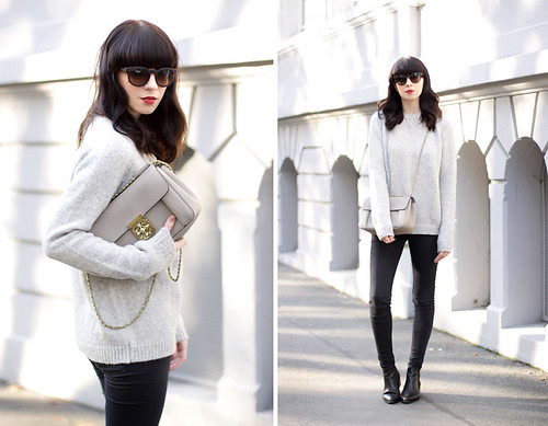 French autumn look outfit ootd styling Jades24 pullover kn