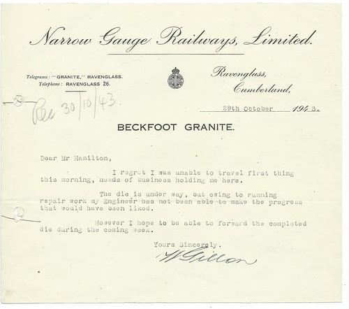 Narrow Gauge Railways Memo 1943   by ian.dinmore