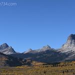 Chief Mountain in Autumn