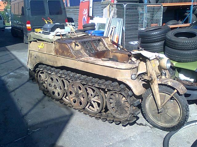 World War II German army tracked MC still in running order!