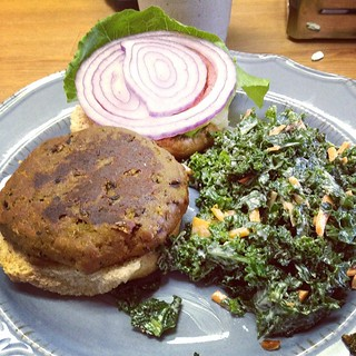 Delicious KV Burger and Kale Slaw at Killer Vegan in Union NJ today with the Montclair Vegans meetup! Not pictured: Mint Chip Milkshake, it was awesome. Thanks @diannewenz !! | by jenofur