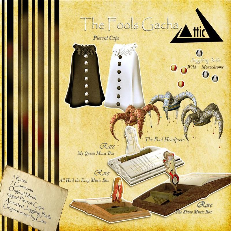 ATTIC - The Fools Gacha Vendor- TFC October