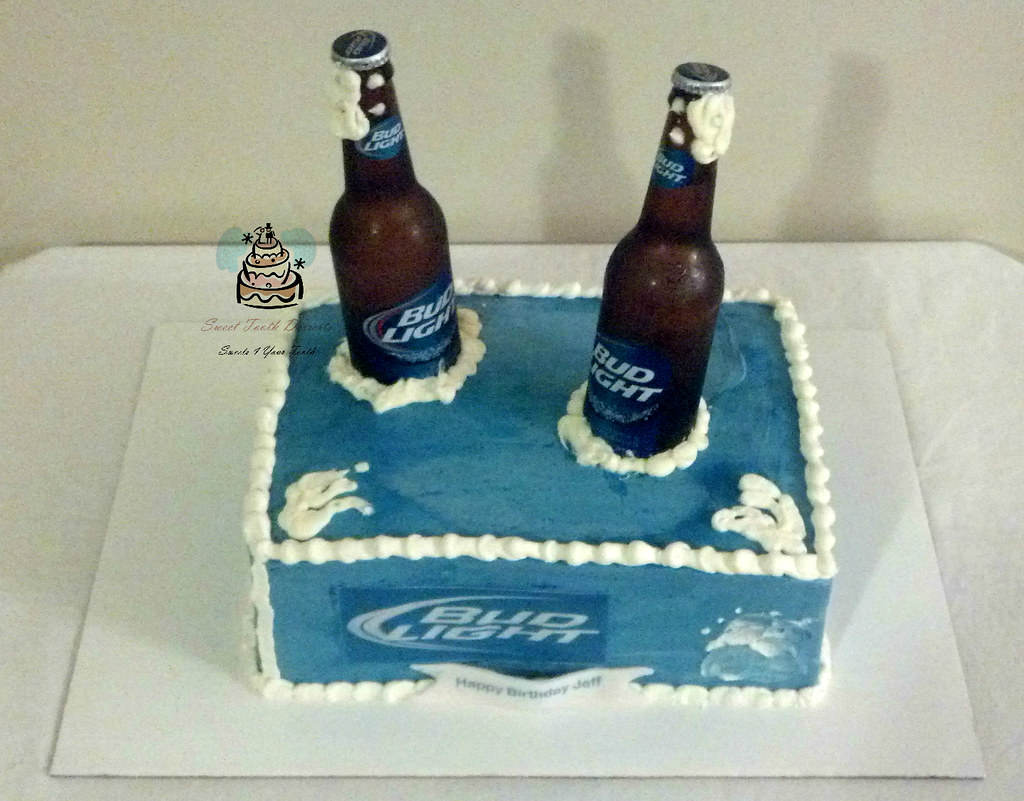 Incredible Budlight Birthday Cake Bud Light Birthday Cake 1 4 Sheet Flickr Personalised Birthday Cards Cominlily Jamesorg