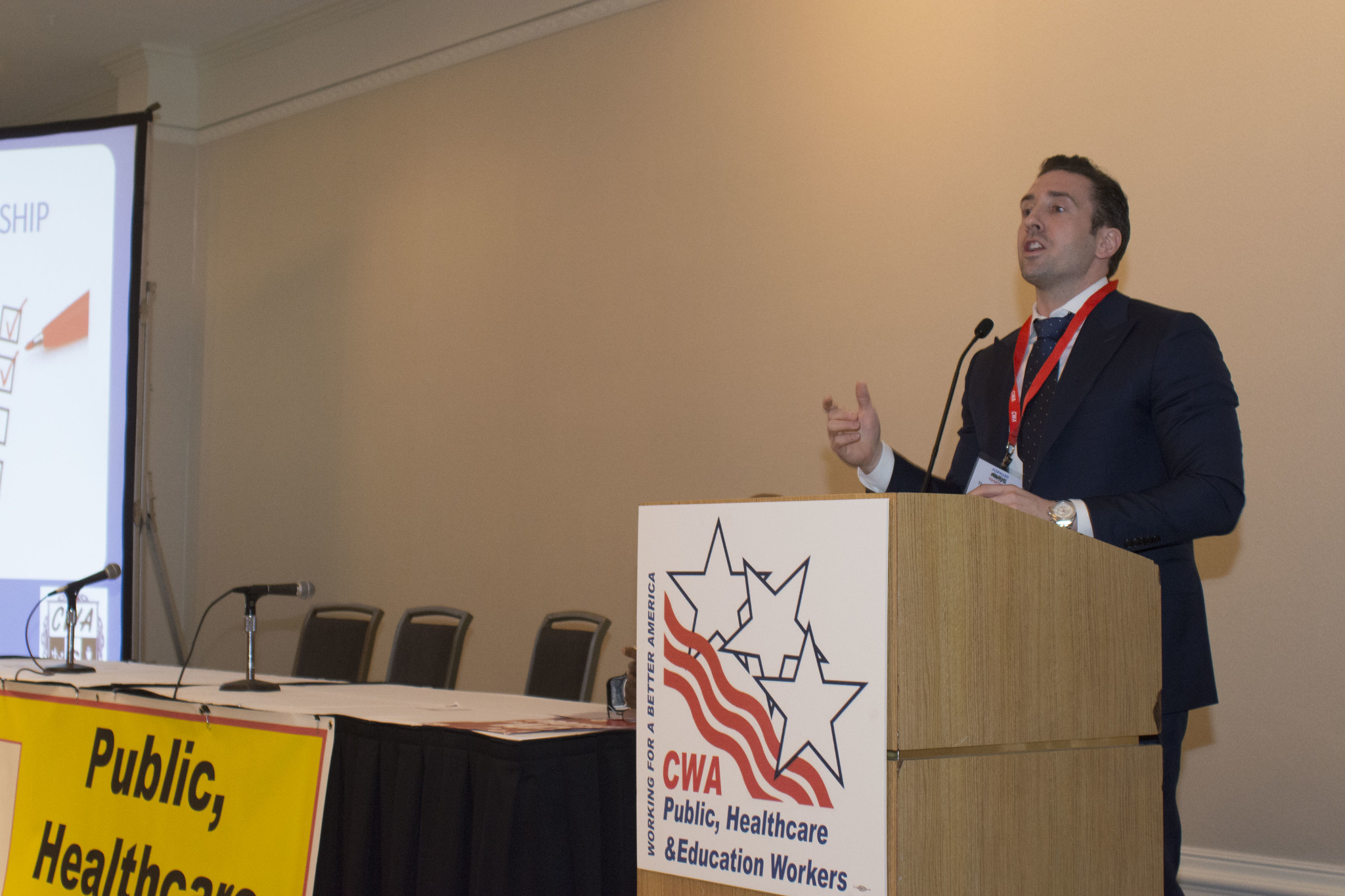 Thomas Giordano at the 2017 Public, Healthcare, and Education Workers Conference