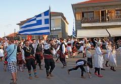 Greece, Macedonia,  Florina,  pan macedonian gathering on the roads of Sitaria village,