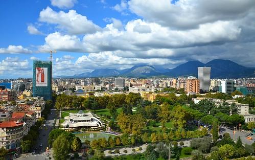 view skytower albania tirana albanien parkurinia shqipëria tiranë