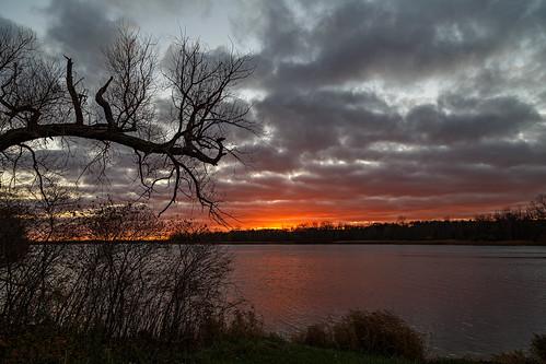 sunset fall landscape michigan nik stoneycreekpark canonef24105mmf4lisusm canoneos6d lightroom5