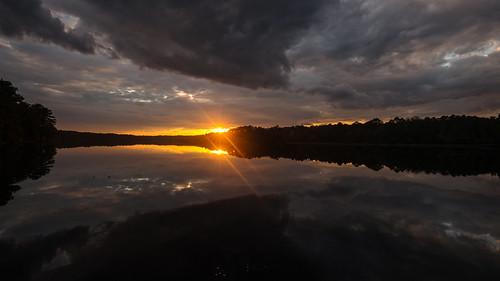 sunset clouds cheraw cherawstatepark lakejuniper nikond800 1635f4