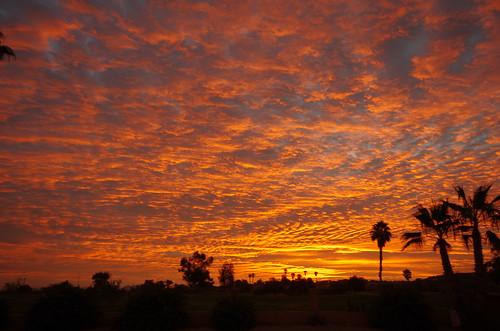morning arizona sky orange sun phoenix clouds creek sunrise golf pentax cave coarse sigma1020 k5iis