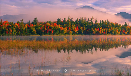 park morning autumn trees usa tree fall colors fog clouds canon landscape photography colorful colours unitedstates state glory newyorkstate colourful adirondack lakeplacid floydian connerypond canoneos1dsmarkiii henkmeijer