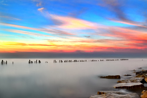 morning lake dawn rocks skies greatlakes erie posts shores erieau bestcapturesaoi elitegalleryaoi