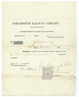 Portsmouth Railway share call 1857 | by ian.dinmore