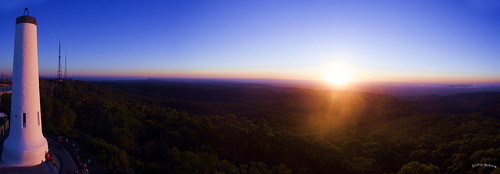 valley bluesky sky sunset tower antenna sun outdoors outdoor forest woods mountlofty australia