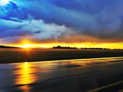 sunset weather iphone iphone6splus spokane washington motion road blur blurred hdr clouds rain water trees landscape