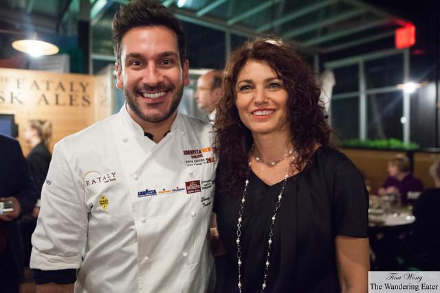 Elisabetta Serraiotto and Chef Denny Imbroisi