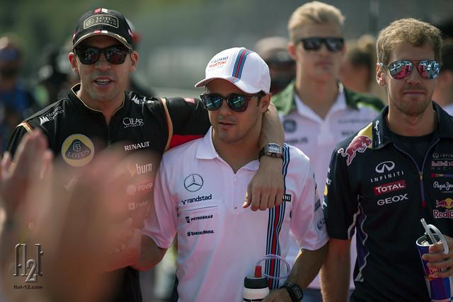 Maldonado, Massa, Ericsson, Vettel
