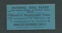 South Shields, Marsden & whitburn Colliery Railway Ticket undated | by ian.dinmore