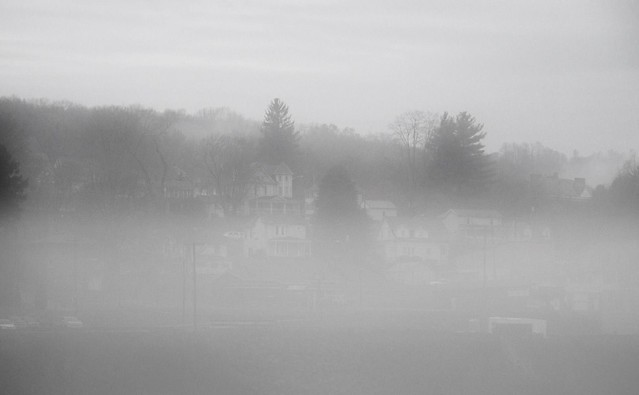 Fog Along the Allegheny River in East Brady, Clarion County Pennsylvania
