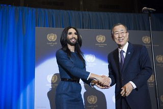 Conchita Wurst meets the UN Secretary-General