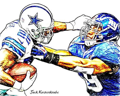 0 Dallas Cowboys DeMarco Murry - New York Giants Devon Kennard