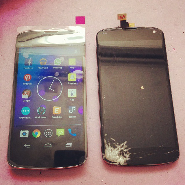 LG Nexus 4 E960 Cracked Screen Replacement Cell Phone Repa
