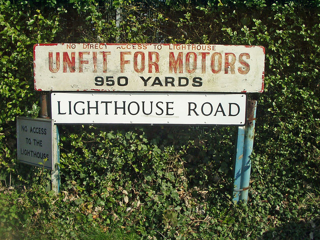 Lighthouse Road doesn't go to the Lighthouse