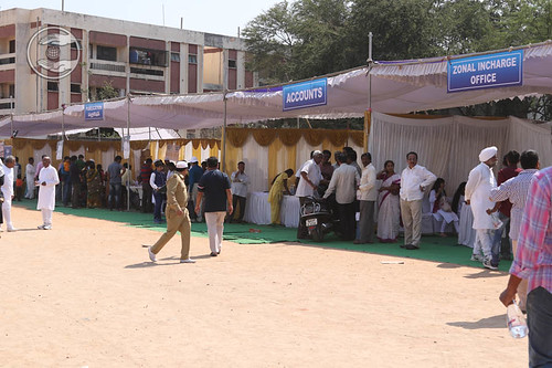 Pavilions in the Satsang campus