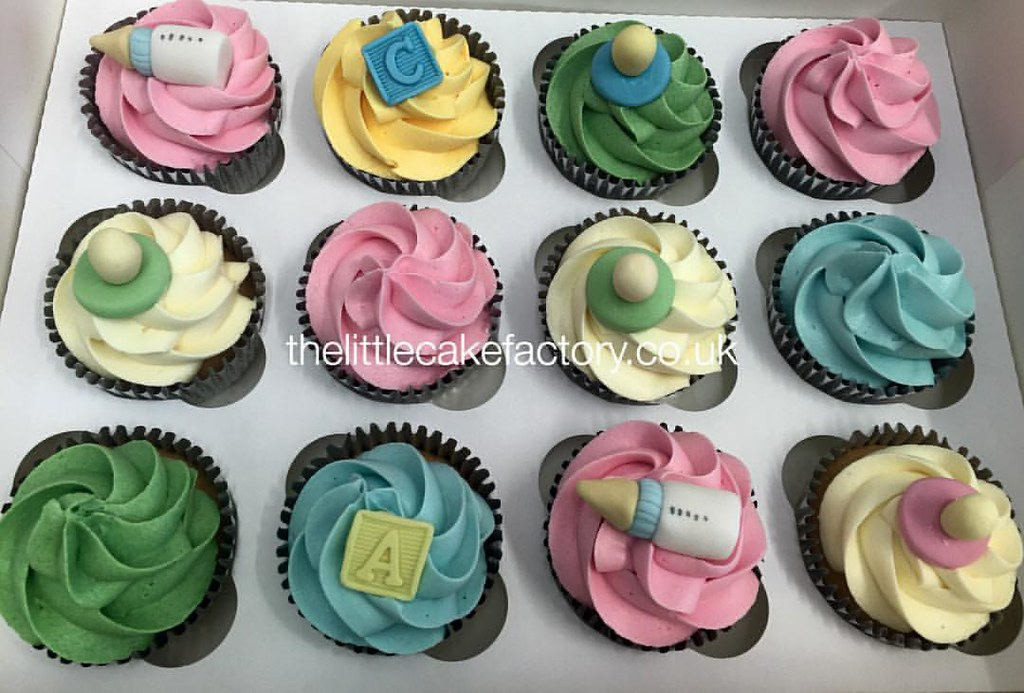 Rainbow Baby Shower Cupcakes Thelittlecakefactory Co Uk Flickr